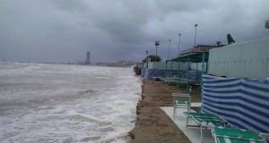 La violenta mareggiata che ha colpito la Romagna nel febbraio scorso