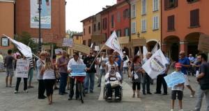Un'altra immagine della manifestazione di oggi.
