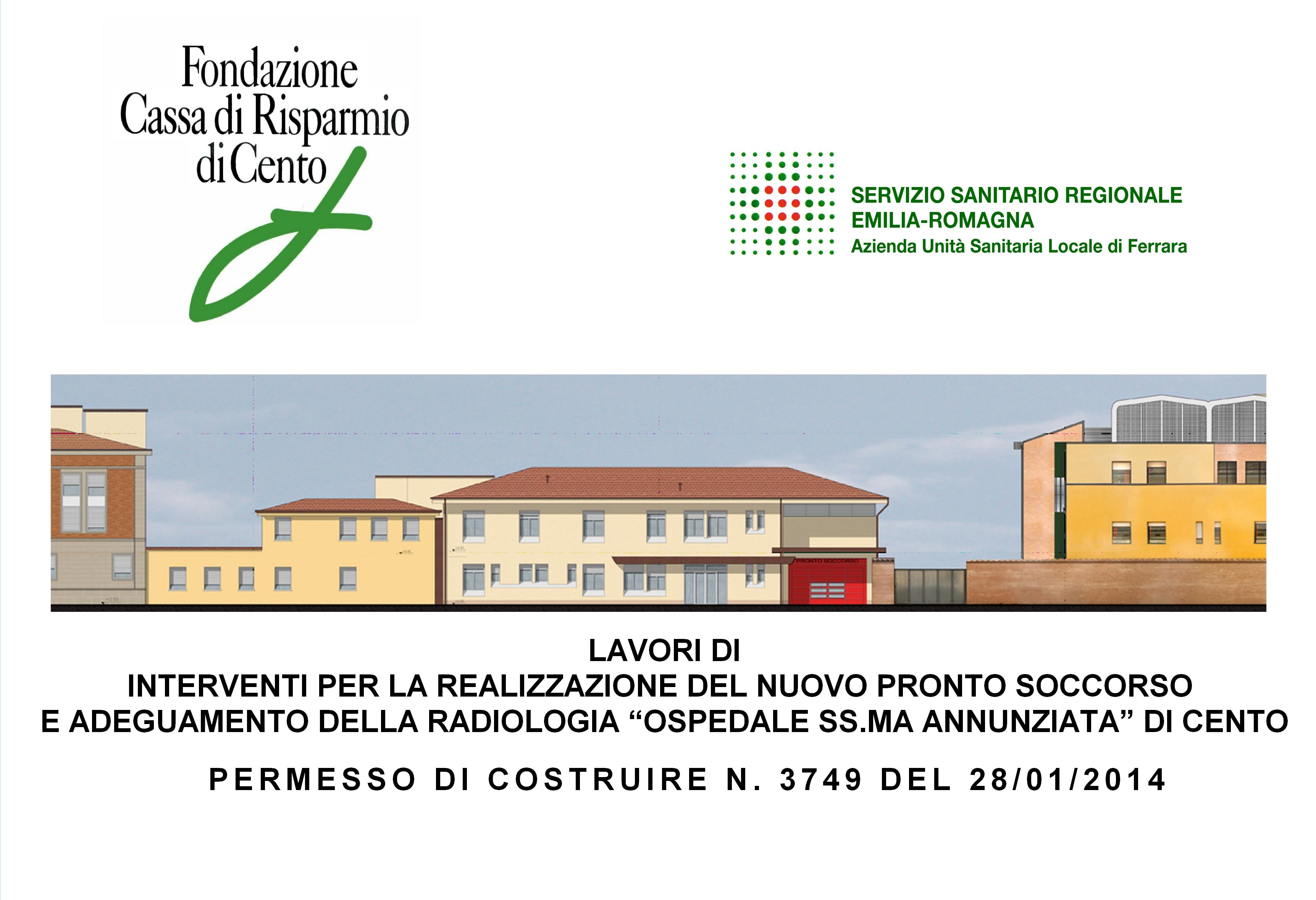 Il progetto del nuovo Pronto Soccorso di Cento, in provincia di Ferrara