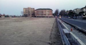 L'area del cantiere Ex Nuit a Cesenatico