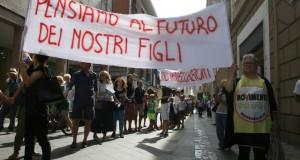 La marcia #NoTriv di sabato scorso a Rimini organizzata dal M5S